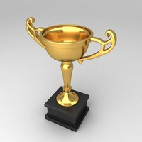 3d model awards trophies