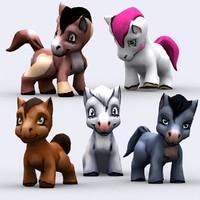 3ds max chibii - pony animals