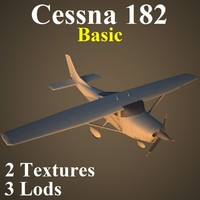 3d model cessna 182 basic
