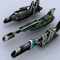 3d model sci-fi fighters fleet