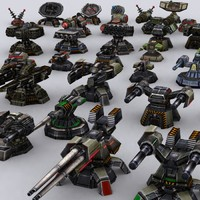 wargear turrets 0 3d model