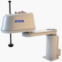 epson scara industrial robot 3d 3ds