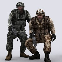 3ds max army marines characters
