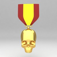 medal awards 3d model