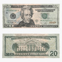 Twenty dollar bill 3D models