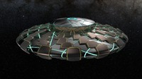 3d model ufo awesome