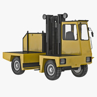 maya loading forklift truck yellow
