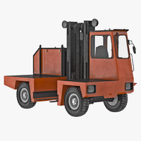 3d model loading forklift truck orange