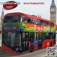 3d model wrightbus routemaster bus ride