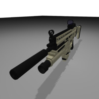 3d max combat assault rifle fn scar
