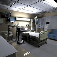 recovery room 3d fbx