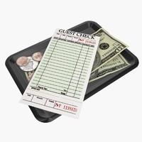 3d restaurant bill