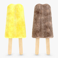 3d model popsicle v3 2 colors