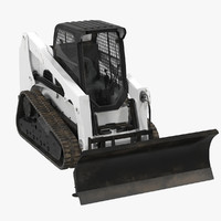 compact tracked loader blade 3d max