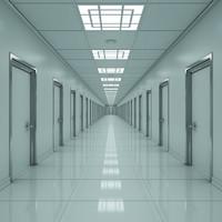 maya modern hallway