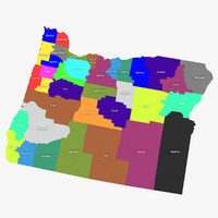 3d model oregon counties