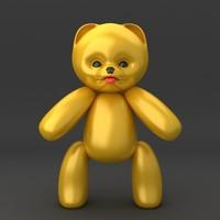 3d model teddy bear soft toy