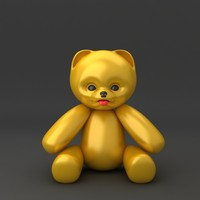 3d teddy bear soft toy model
