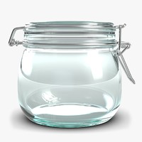 small glass jar 3d max