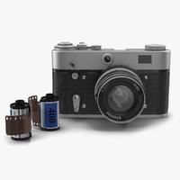 3d vintage film camera set