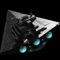 3d star wars imperial destroyer model