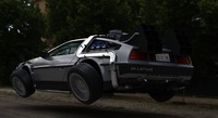 3d model of future delorean time machine