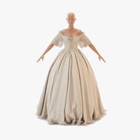 3d victorian dress model