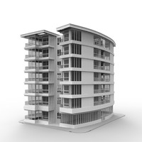 3d apartment building