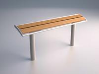 upper bench 3d max