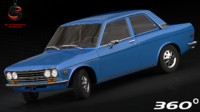 3d model of nissan datsun 510 1970