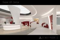 bank china 3d model