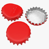 3d bottle caps model