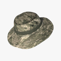3d model military boonie hat
