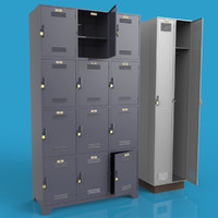 lockers 3d model