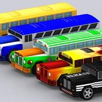 0 road rush 3d model