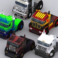 3ds max 0 road rush trucks