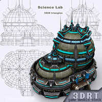 construction - science lab 3d 3ds