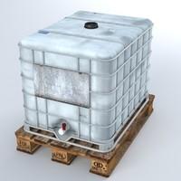 liquid plastic tank 3d max