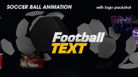 3d broadcast soccer ball animation model
