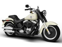 3d model harley-davidson flstfb softail fat