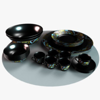 3d model of arabian fancy dishes