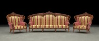 armchair sofa ethnic carved 3d model