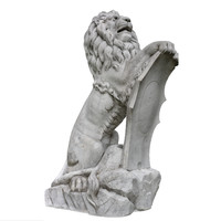 3d scan sculpture lion rendering model