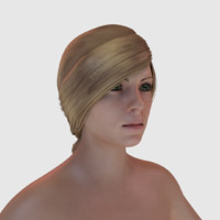 3d obj white female basemesh