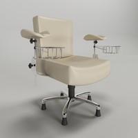 3d cadeira hospital para coleta