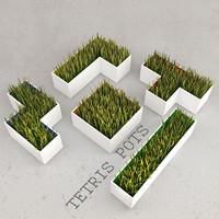 Grass tetris pots