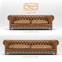 3d 3 seater 4 sofa model