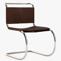 obj brown leather chair