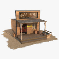 wild west saloon obj