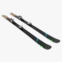 snow ski 8 3d 3ds
